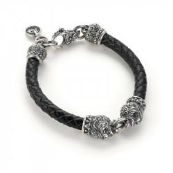 Anzu. Браслет «Liones&leather cord»