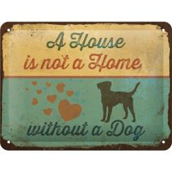 Табличка настенная A House is not a home 15x20