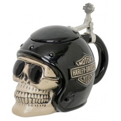 Кружка с крышкой HD Skull Rider
