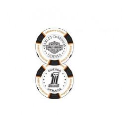 Сувенирная фишка для покера, белый